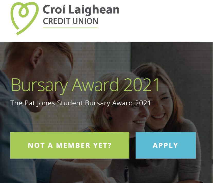 Croí Laighean Credit Union Bursary - Website